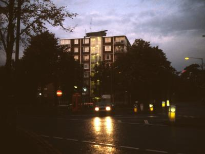 View of Cleeve House at night
