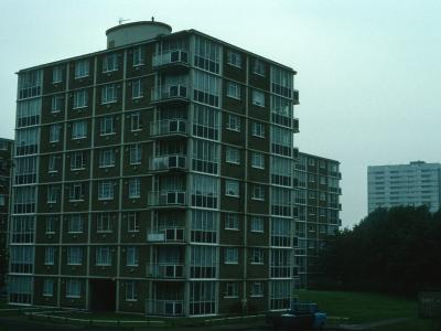 View of 8-storey blocks on Firs Estate