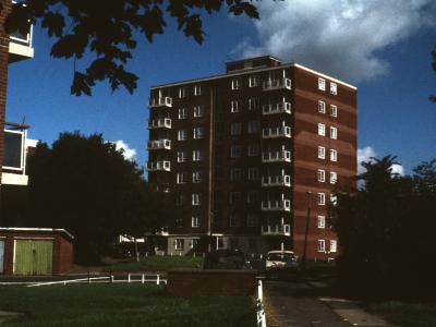 View of 8-storey block