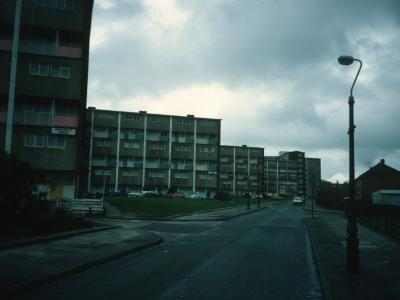 View of 6 and 8-storey blocks on Chaddesley Road