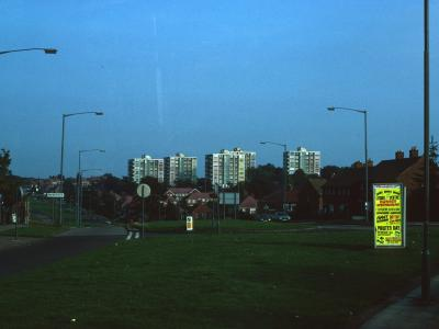 View of 8-storey blocks in Millpool Hill Estate