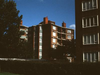 View of 6-storey blocks on Hawkesley Farm Moat Estate