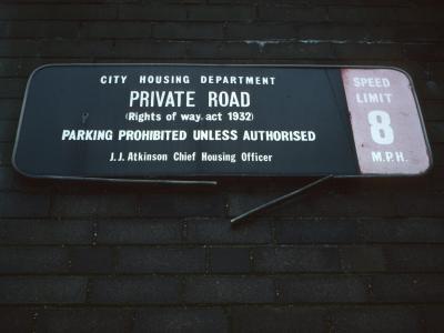 Sign on 9-storey blocks on Stephens Road