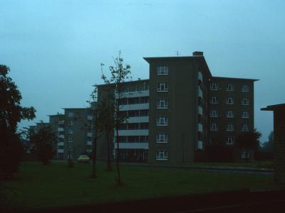 View of 6-storey blocks with Ledbury House nearest