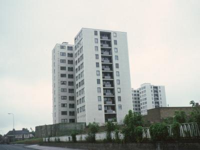 View of Knowsley Heights blocks