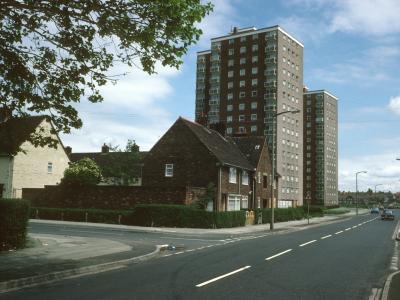 View of Woolfall Heights blocks on Woolfall Heath Avenuen