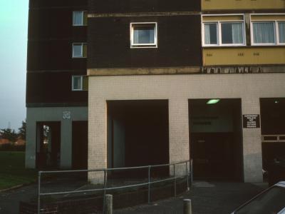 Entrance to Stretford House