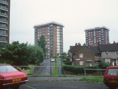 View of Lakeside Rise blocks
