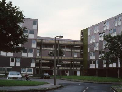 General view of 6-storey blocks in Hulme redevelopment Stage 3