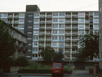 View of 9-storey block on Gorsvenor Street