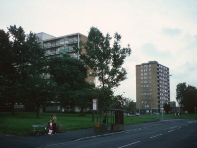 View of 9-storey block and Hollyhedge Court from Browley Road