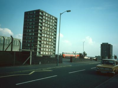 View of 13-storey blocks on Sutherland Drive