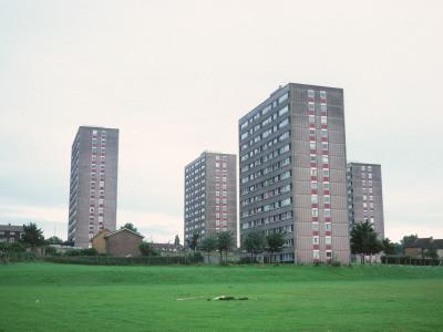 View of 13-storey Sectra system blocks on Argyle Street