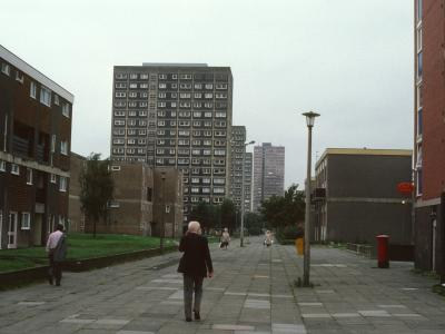 View of Mulberry Court, Sycamore Court, and Magnolia Court with Thorn Court in background
