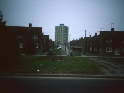 View of 13-storey block on Greenhill-Bradway development