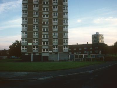 View of 13-storey blocks on Greenhill-Bradway development