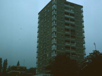 View of 13-storey block in Winn Gardens