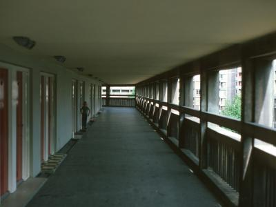 View of deck access on Park Hill Estate