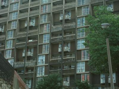 View of 13-storey block on Park Hill Estate