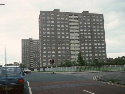 View of 15-storey blocks on Cambridge Street