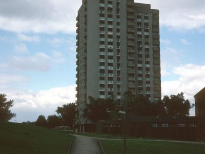 View of block on Orchard Park Estate