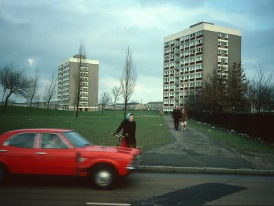 View of 10-storey blocks on Orchard Park Estate