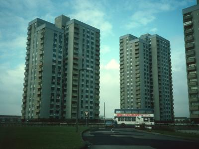 View of blocks on Orchard Park Estate