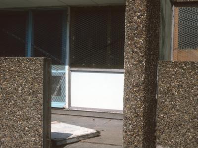 Detail view of 6-storey block in Bransholme