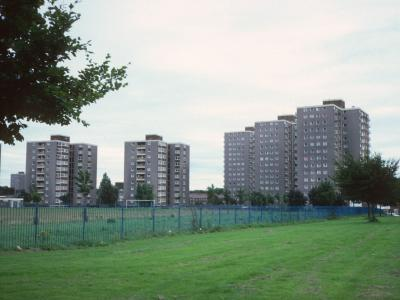 View of 11-storey blocks on Wellgreen Road and Childwall Heights blocks