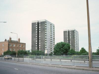 View of both Hetherlow Towers blocks