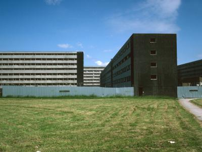 View of 8-storey blocks in Netherley