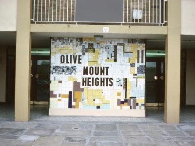 Entrance to Olive Mount Heights block