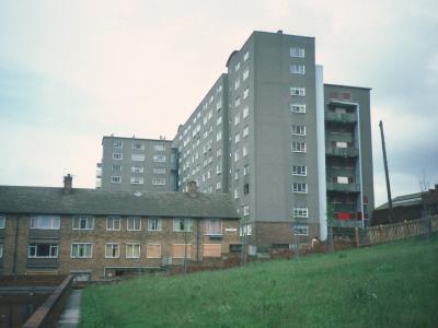 View of 10-storey block on Cresswell Street