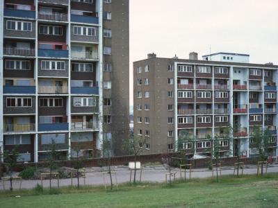 View of Netherfield Brow blocks on Everton Terrace