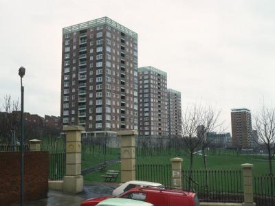 View of Edinburgh Street blocks on Netherfield Road