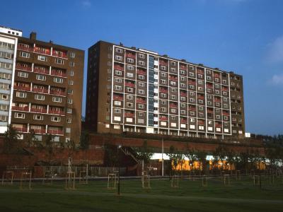 View of Netherfield Brow blocks