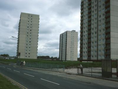 View of Northern 16-storey blocks on Pool Hey