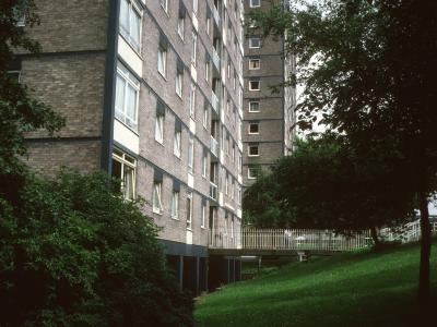 View of 11-storey blocks on Fern Street