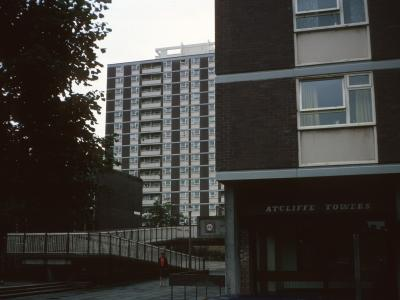 View of Ratcliffe Towers with Millbrook Towers behind