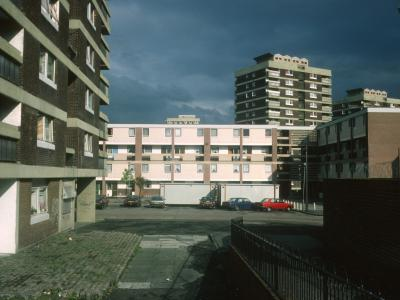 View of 13-storey blocks on North Queen Street