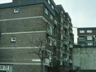 View of 7-storey block on North Street