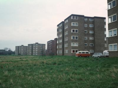 View of 6-storey blocks on Watercress Farm Estate