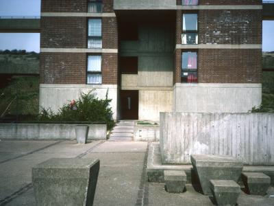 Base of 17-storey block on Porstdown Park Estate