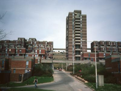 General view of Portsdown Park Estate with 17-storey block in centre