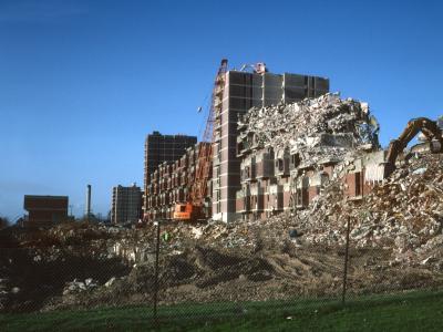Portsdown Park Estate undergoing demolition