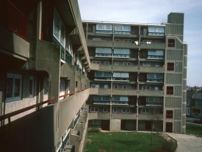 View of 9-storey blocks on Cannock Lawn