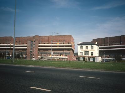 View of backs of Estella Road and Grafton Street blocks from Havisham Road