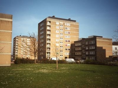 View of blocks on Holy Rood Estate