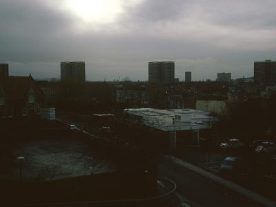 View of 17-storey blocks in Easton