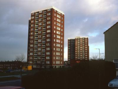 View of 14-storey blocks on Culverwell Road